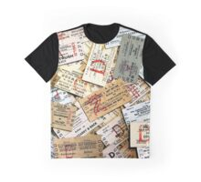 1960s-70S  'SCATTERED'  NORTHERN IRELAND RAILWAY TICKET CUSHION Graphic T-Shirt