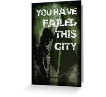 Arrow-Failed This City Greeting Card