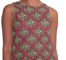 Decorative Damask Grunge Pattern Contrast Tank