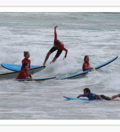 Surfing Aus Style Sticker