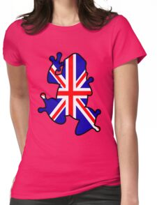 British Union Jack Frog Womens Fitted T-Shirt