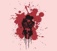 Skeleton Romance Splatter Kids Tee