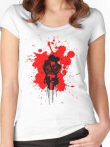 Skeleton Romance Splatter Women's Fitted Scoop T-Shirt
