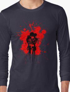Skeleton Romance Splatter Long Sleeve T-Shirt