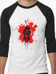 Skeleton Romance Splatter Men's Baseball ¾ T-Shirt