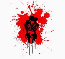 Skeleton Romance Splatter Womens Fitted T-Shirt