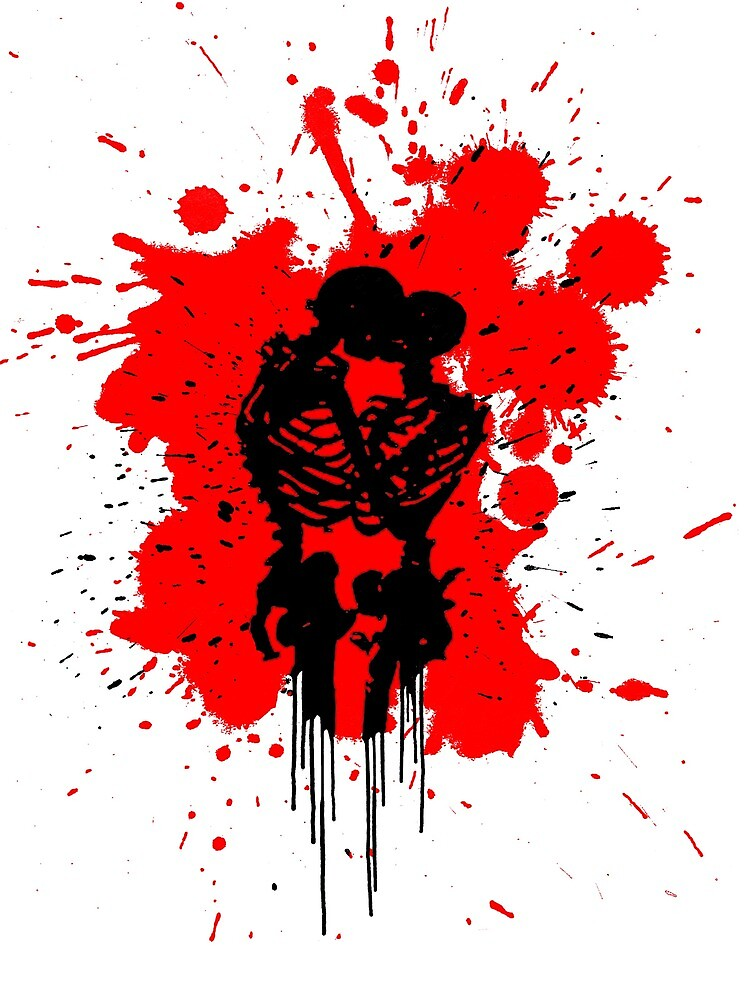 Skeleton Romance Splatter by DomCowles12