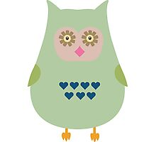 Fat Owl  Photographic Print
