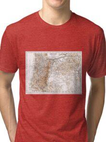 Vintage Map of Oregon (1911) 2 Tri-blend T-Shirt