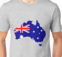 Australia Flag Map Unisex T-Shirt