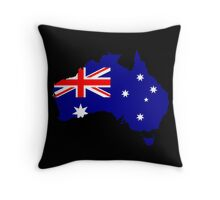 Australia Flag Map Throw Pillow