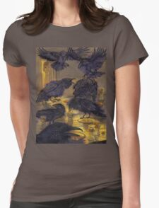 The ravens. Womens Fitted T-Shirt