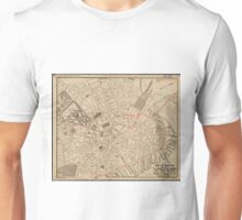 Vintage Map of Downtown Boston MA (1911) Unisex T-Shirt
