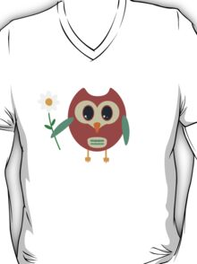Coloured owl with a flower T-Shirt