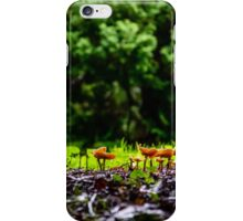 Mushrooms in the Grass iPhone Case/Skin