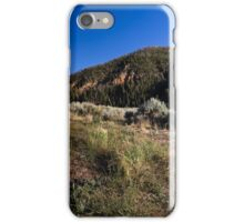 Hills with grass sagebrush and sky iPhone Case/Skin
