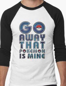 pokemon GO AWAY T-shirt Men's Baseball ¾ T-Shirt