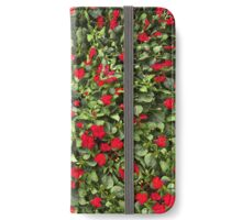 Flowers and Plants Pattern iPhone Wallet/Case/Skin