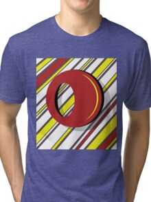 Red and yellow Tri-blend T-Shirt