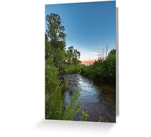 Currant Creek after dusk Greeting Card