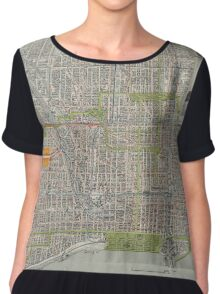 Vintage Map of Chicago (1912) Chiffon Top