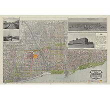 Vintage Map of Chicago (1912) Photographic Print