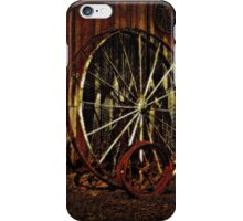 Wagon Wheels under a Full Moon iPhone Case/Skin