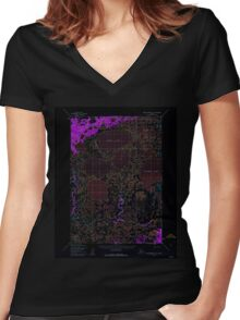 USGS TOPO Map Alaska AK Russian Mission C-5 358663 1952 63360 Inverted Women's Fitted V-Neck T-Shirt