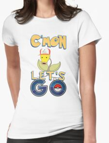 pokemon CMON LETS GO T-shirt Womens Fitted T-Shirt