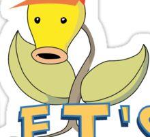 pokemon CMON LETS GO T-shirt Sticker