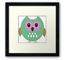 Green owl  Framed Print
