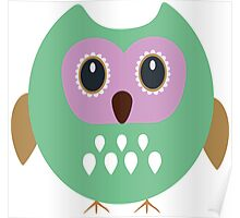 Green owl  Poster