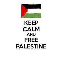 Keep Calm and Free Palestine Photographic Print