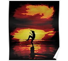 The Crane Kick Karate Kid Poster