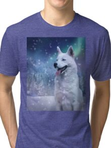 White Husky Tri-blend T-Shirt