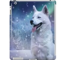 White Husky iPad Case/Skin