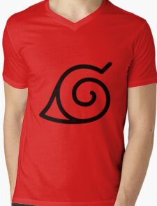 Konohagakure Mens V-Neck T-Shirt