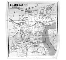 Vintage Map of Shanghai China (1912) Poster