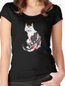 Yakuza Cat Women's Fitted Scoop T-Shirt