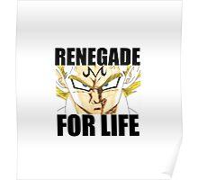 Majin Vegeta - Renegade For Life Poster