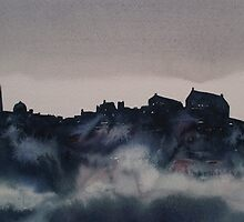 Edinburgh Castle Darkness 4 by Ross Macintyre