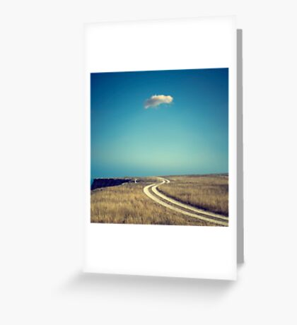 A lonely cloud Greeting Card