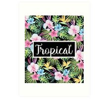 Tropical Vintage Floral  Art Print