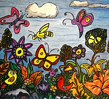 The Birds, The Bees and Butterflies by Monica Engeler