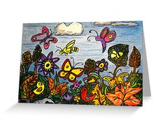 The Birds, The Bees and Butterflies Greeting Card