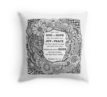 may the God of Hope Throw Pillow