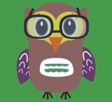 Nerdy owl  by ilovecotton