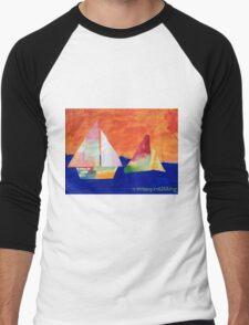 Sail Away - by Nadia Men's Baseball ¾ T-Shirt
