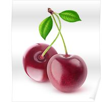 Two cherries Poster