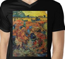 Red Vineyards by Vincent Van Gogh Mens V-Neck T-Shirt